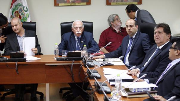 Alan García en su presentación ante la 'megacomisión' que presidió Sergio Tejada.
