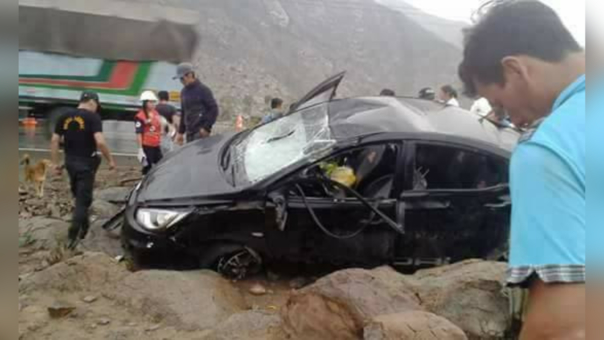 El vehículo terminó a un costado de la carretera Cajamarca - Ciudad de Dios