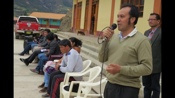 Alcalde de la Municipalidad de San Marcos, Félix Chávez.