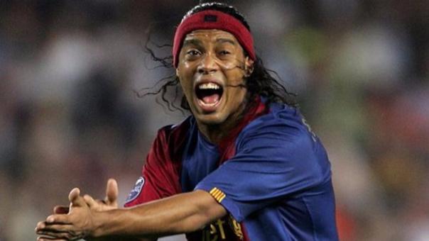 Ronaldinho jugó 5 temporadas con el equipo catalán