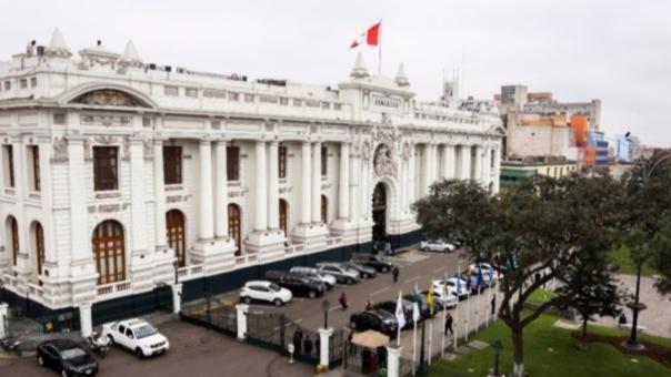 La sede del Poder Legislativo, en el Centro Histórico de Lima.