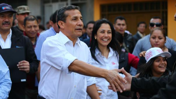 Ollanta Humala y su esposa Nadine Heredia durante una inauguración de obras de infraestructura en la localidad de Huaycán, en el distrito de Ate, en junio del año pasado.