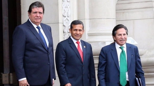 Alan García, Ollanta Humala y Alejandro Toledo, los presidentes cuyos gobiernos están involucrados en el caso Odebrecht.