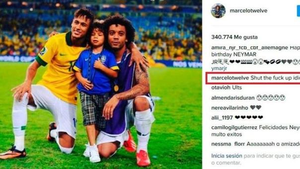 Marcelo saludó a Neymar por su cumpleaños 25.