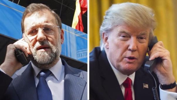 Mariano Rajoy y Donald Trump se comprometieron a mantener la buena relación entre España y Estados Unidos.