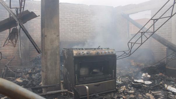 Incendio en vivienda del distrito de la Victoria