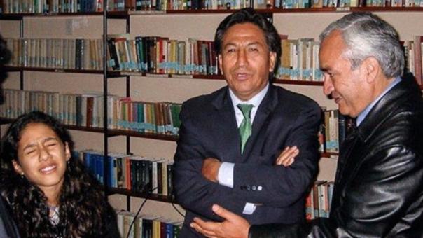 Alejandro Toledo reconoció a su hija Zaraí luego de 14 años, en el año 2002.