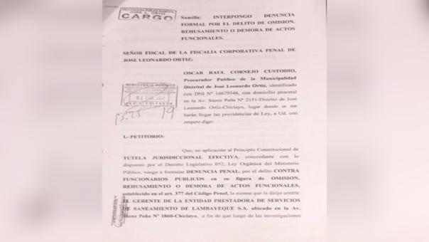 Municipalidad de JLO denunció a Epsel