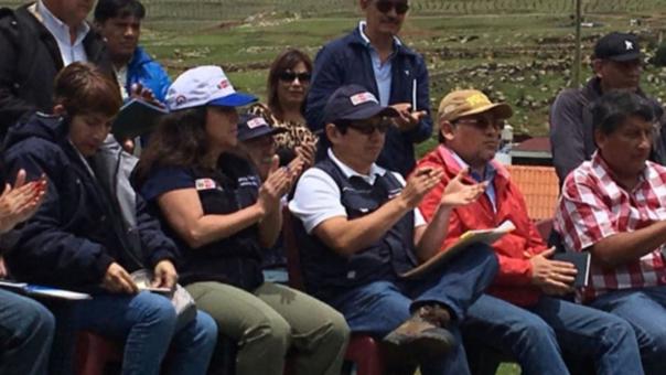 Ministros en Challhuahuacho