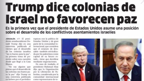 Publicaron la foto de un imitador en lugar de la de Trump
