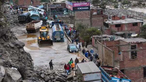 Huaico que afectó a Chosica, en la región de Lima.