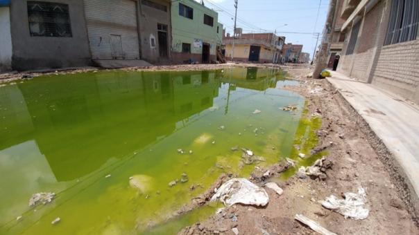 Acumulación de aguas de desagüe