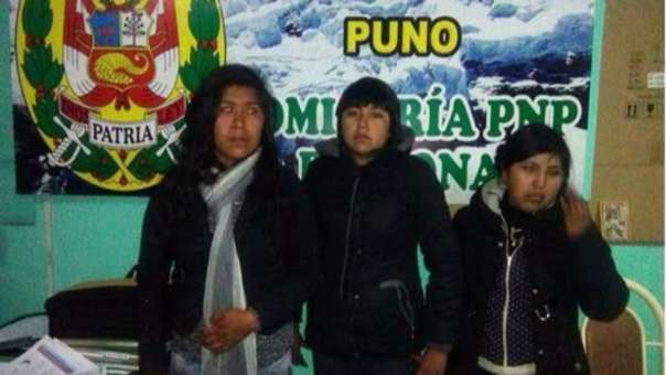 Mujeres fueron intervenidas por la PNP y la fiscalía en trata de personas.