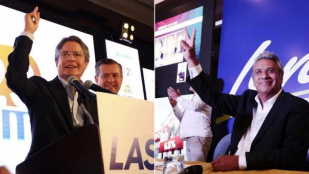 Lasso (izquierda) podría presentar una política de mayor apertura comercial mientras que Lenin Moreno continuaría con las políticas del actual presidente Rafael Correa.