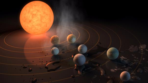 NASA descubre nuevo sistema solar donde tres planetas podrían tener océanos