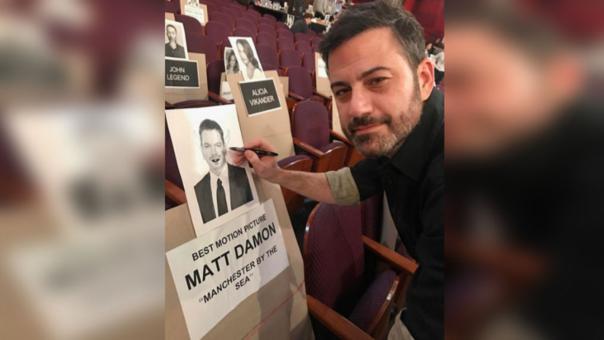 Matt Damon y Jimmy Kimmel