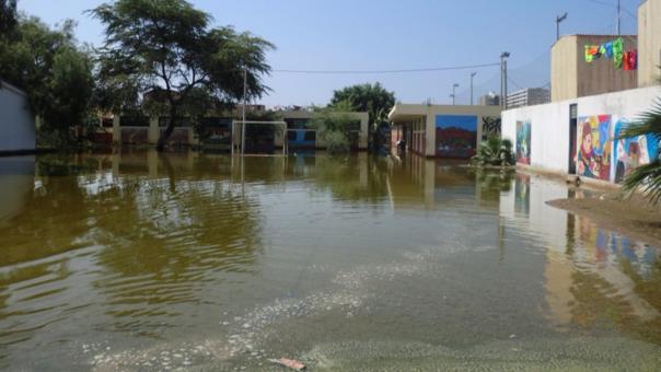 Colegio afectado por lluvias