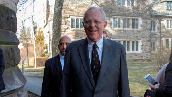 El presidente de Perú y también exalumno de la Universidad de Princeton, Pedro Pablo Kuczynski (PPK), en la Universidad de Princeton, en Nueva Jersey.