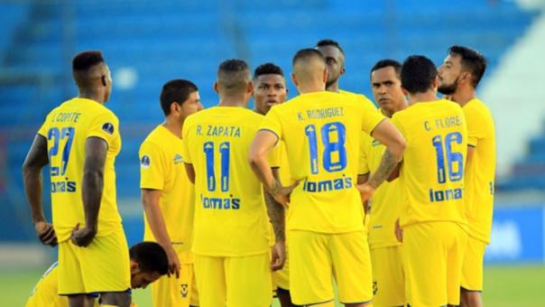 Comerciantes Unidos en el inicio de la Copa Sudamericana.