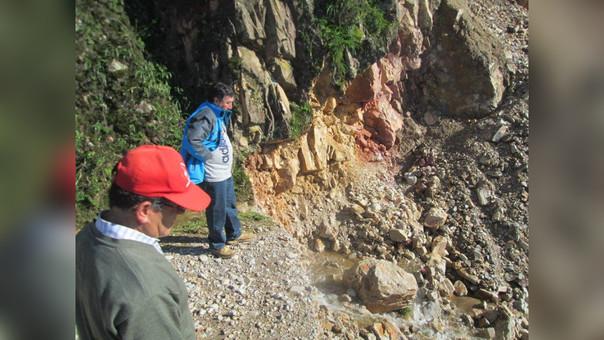 La provincia de cajamarquina de Contumazá  está incomunicada con Cascas (La Libertad) desde el último sábado