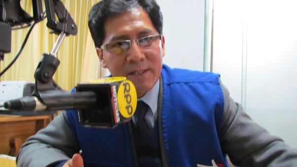 Jacinto Ticona Huamán, jefe de la Defensoría de Pueblo en la región Puno.