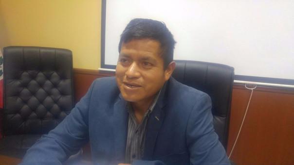 Víctor Herrera, Relacionista Público de la Dirección de Transportes de Cajamarca