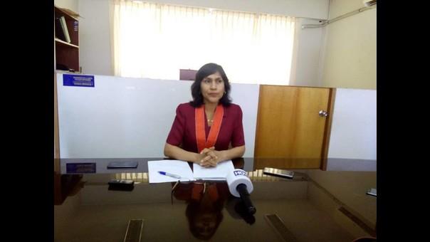 Fiscal superior Cecilia Zavaleta.