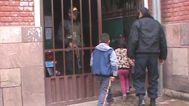 Serenazgo Municipal llevó a los menores a la comisaría de Familia.