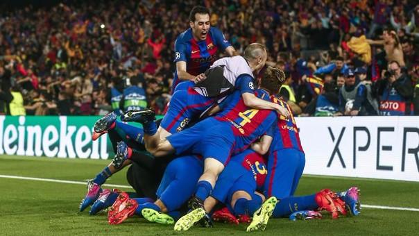 El gol de Sergi Roberto desató la euforia en todo Barcelona.