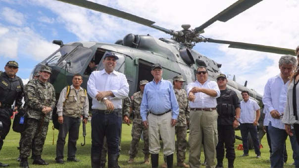 El presidente sobrevoló este domingo la zona del desastre en Piura.