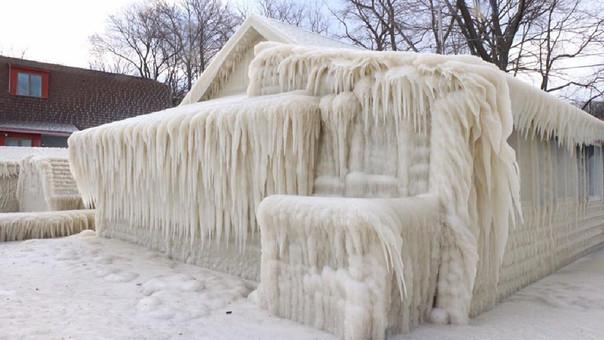 Casa congelada.