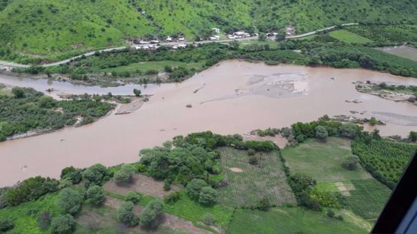 El impacto ha sido detectado en zonas de cultivos, equipos de irrigación, canales de regadío, trochas de salida de productos del campo, vías de acceso, etc.