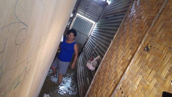 Precaria vivienda afectada por las lluvias.