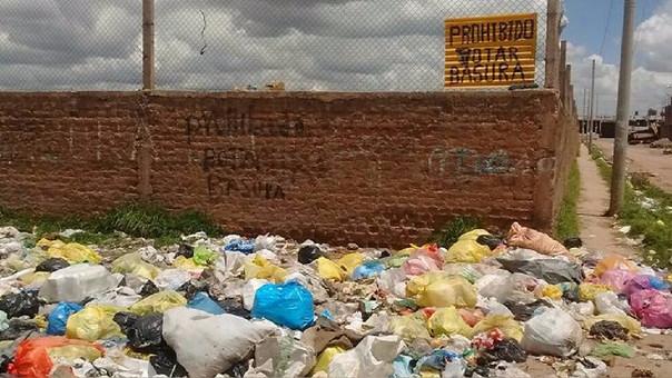 Municipalidad no encuentre terreno para disposición final de los residuos sólidos.