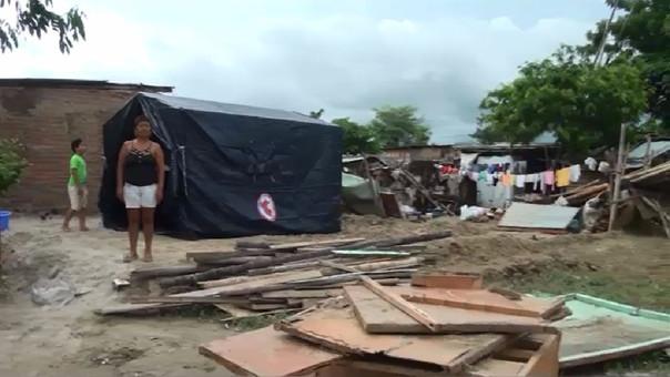 Familia López Agurto perdió su precaria vivienda.