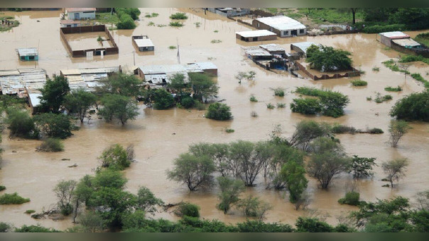 Zona inundada en Lambayeque