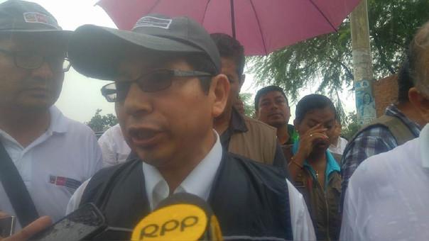 Ministro de Vivienda y Saneamiento, Edmer Trujillo pidió la calma a la población por los daños a causa de las lluvias.