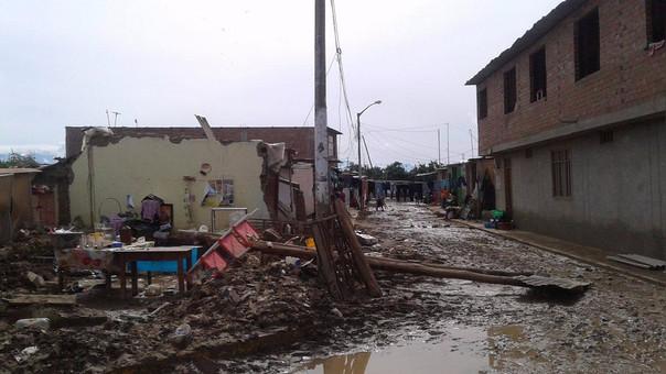 casas colapsadas en Íllimo