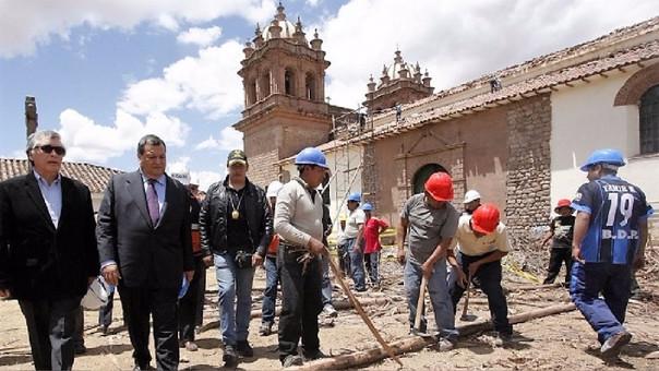 Los trabajos tomarán un máximo de dos años e incluirán las obras de Quispe Tito que pudieron ser salvadas por los vecinos del lugar tras verse parcialmente afectadas por las llamas.