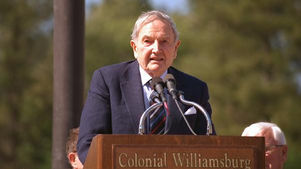 David Rockafeller era el único nieto sobreviviente del primer multimillonario del mundo, John D. Rockefeller.
