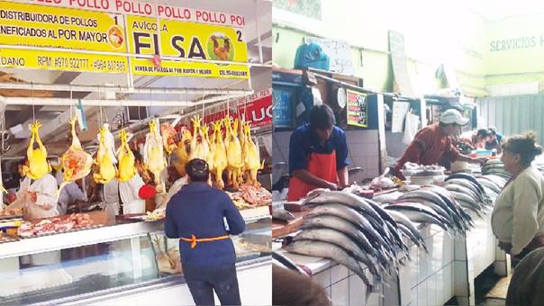 pollos, pescados