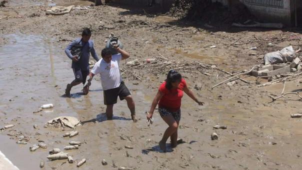 La ciudad de Huarmey en el sur de la región Áncash se encuentra inundada por las intensas lluvias y el desborde de ríos.