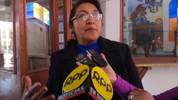 Presidenta de la Junta de Fiscales Superiores de Puno, Guadalupe Manzaneda.