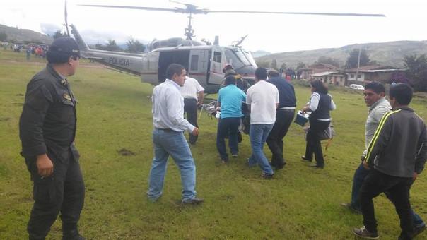 Los brigadistas heridos fueron llevados en tres helicópteros a la ciudad de Chiclayo para que reciban atención especializada