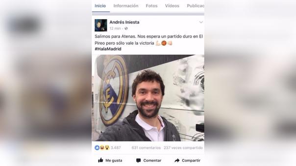 El error del Community Manager de Andrés Iniesta en Facebook.