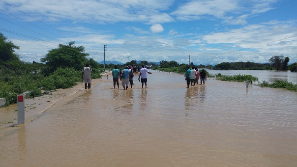Zona inundada por desborde