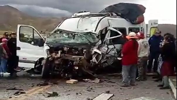 Accidente en Azángaro