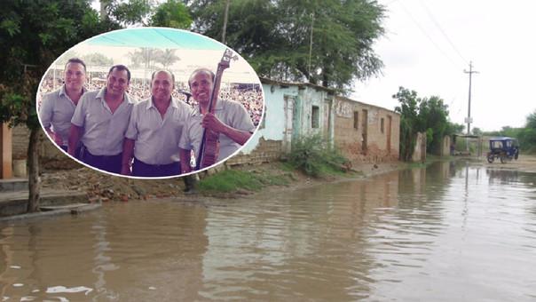 Los familiares de los músicos también fueron afectados por las fuertes lluvias en Piura.