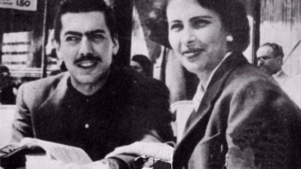 Mario junto a su primera esposa, Julia Urquidi.