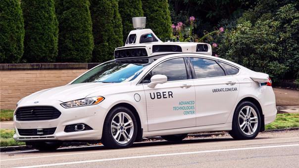 Así es un vehículo autónomo de Uber.